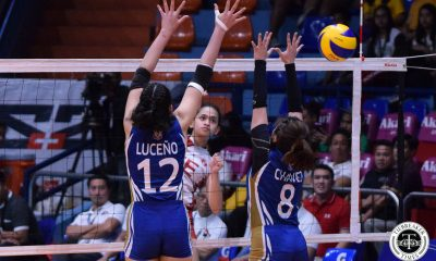 Tiebreaker Times UE Lady Warriors arrest four-game skid at NU's expense News NU UAAP UE Volleyball  UE Women's Volleyball UAAP Season 81 Women's Volleyball UAAP Season 81 Rey Karl Dimaculangan Princess Robles NU Women's Volleyball Norman Miguel Mary Ann Mendrez Laizah Bendong Kath Arado Judith Abil Ivy Lacsina
