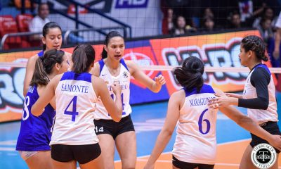 Tiebreaker Times Bea De Leon on encounter with referee: 'Talagang all emotion' ADMU News UAAP Volleyball  UAAP Season 81 Women's Volleyball UAAP Season 81 Bea De Leon Ateneo Women's Volleyball