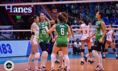 Tiebreaker Times La Salle Lady Spikers halt two-game slide, drub UE DLSU News UAAP UE Volleyball  UE Women's Volleyball UAAP Season 81 Women's Volleyball UAAP Season 81 Tin Tiamzon Rey Karl Dimaculangan Ramil De Jesus Michelle Cobb Kath Arado Judith Abil Jolina Dela Cruz DLSU Women's Volleyball Carmel Saga