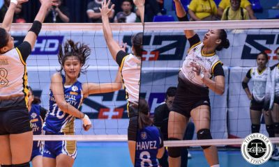 Tiebreaker Times NU-UST Juniors rivalry rekindled as Eya Laure faced former four-time champs News NU UAAP UST Volleyball  UST Women's Volleyball UAAP Season 81 Women's Volleyball UAAP Season 81 Princess Robles NU Women's Volleyball Jennifer Nierva Ivy Lacsina Eya Laure