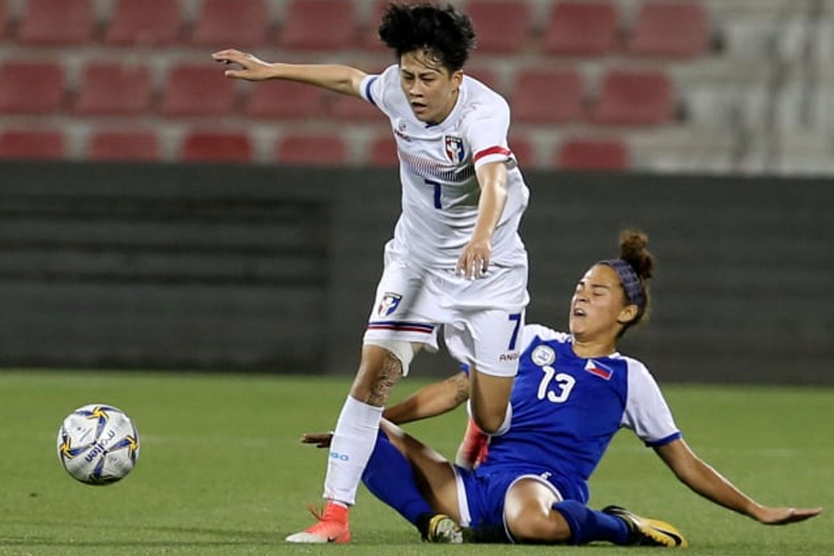 Tiebreaker Times Errors prove costly as PWNFT stumble against Chinese-Taipei in Olympic Qualifiers Football News Philippine Malditas  Philippine Women's National Football Team Patricia Tomanon Let Dimzon Joyce Semacio Inna Palacios Chinese-Taipei (Football)