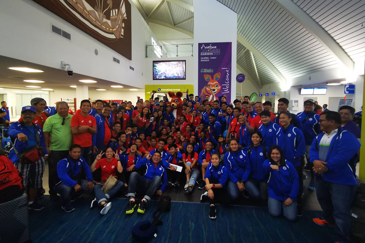Tiebreaker Times Team Pilipinas arrive in Darwin for Arafura Games News POC/PSC  Philip Delarmino Marc Velasco 2019 Arafura Games