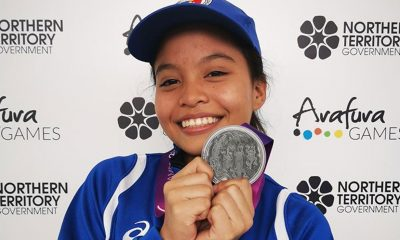 Tiebreaker Times Weightlifter Kate Diaz gives Team Pilipinas first Arafura Games medal News Weightlifting  Kate Diaz 2019 Arafura Games