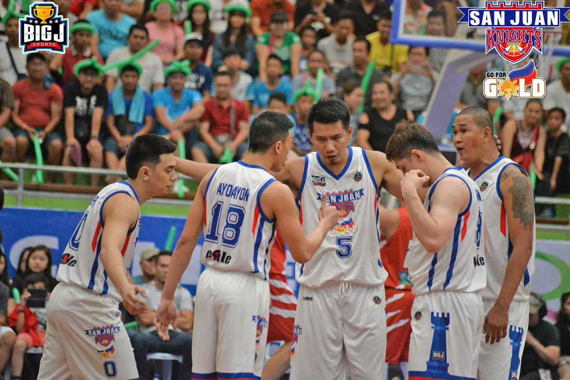 Tiebreaker Times Davaoeño Jhonard Clarito lifts San Juan Knights to MPBL National Championship Basketball MPBL News  Rian Ayonayon Randy Alcantara Mark Yee Mac Cardona Larry Rodriguez Go for Gold-San Juan Knights Don Dulay Davao Occidental Tigers Bonbon Custodio 2019 MPBL Datu Cup 2018 MPBL Season