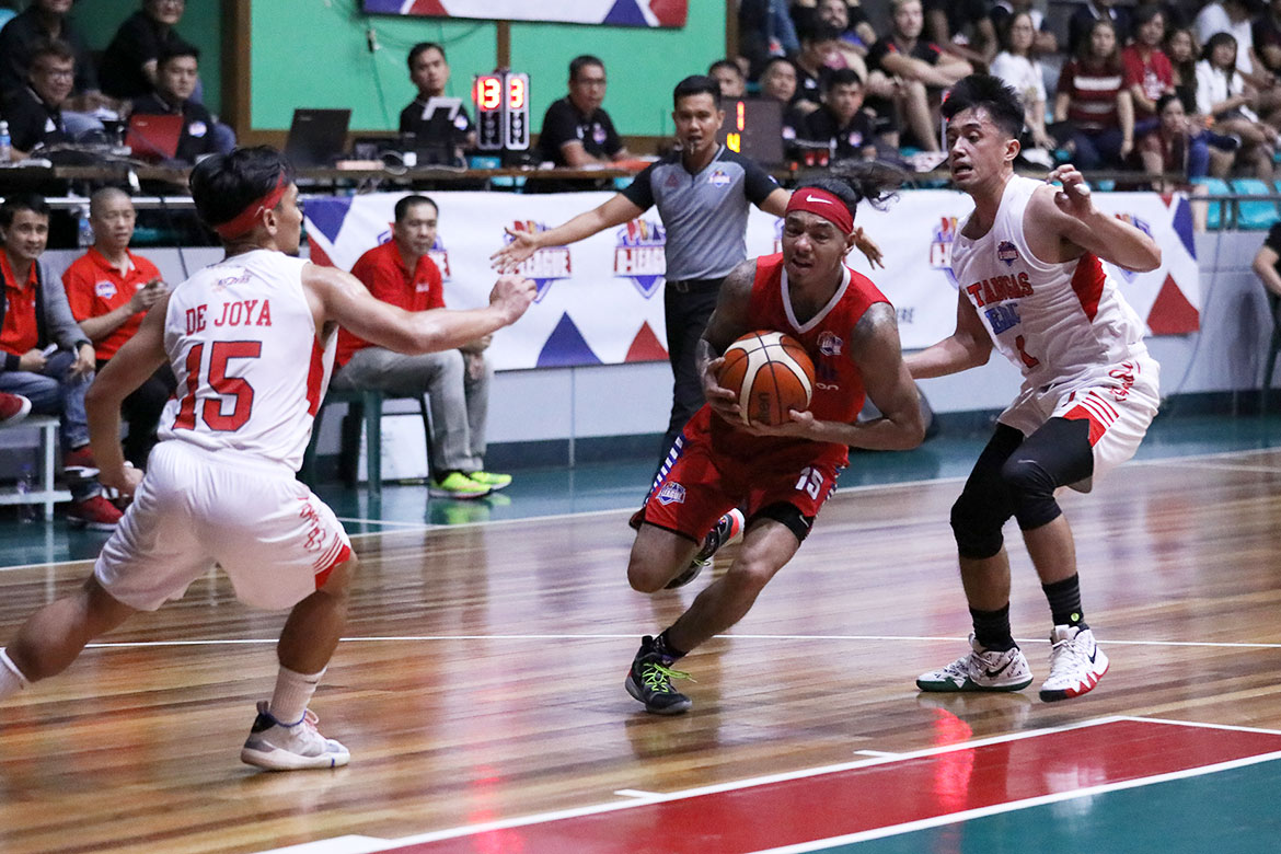 Tiebreaker Times Franky Johnson finds second wind as AMA outlasts Batangas-EAC in 2OT Basketball EAC News PBA D-League  Ryan Arambulo Oliver Bunyi Mark Herrera Joshua Munzon Franky Johnson Embons Bonleon Earvin Mendoza Cedric De Joya Batangas-EAC Generals AMA Online Education Titans 2019 PBA D-League Season