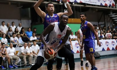 Tiebreaker Times Breaking D-League offensive rebounding record was not Ange Kouame's goal Basketball News PBA D-League  Ateneo-Cignal Blue Eagles Angelo Kouame 2019 PBA D-League Season