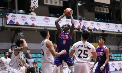 Tiebreaker Times Malick Diouf puts up monster line as CEU pounds Trinity Basketball News PBA D-League  Tyron Chan The Masterpiece-Trinity Stallions Maodo Malick Diouf Judel Fuentos John Tayongtong Jan Formento Gab Reyes Derrick Pumaren CEU Scorpions Alvin Grey 2019 PBA D-League Season