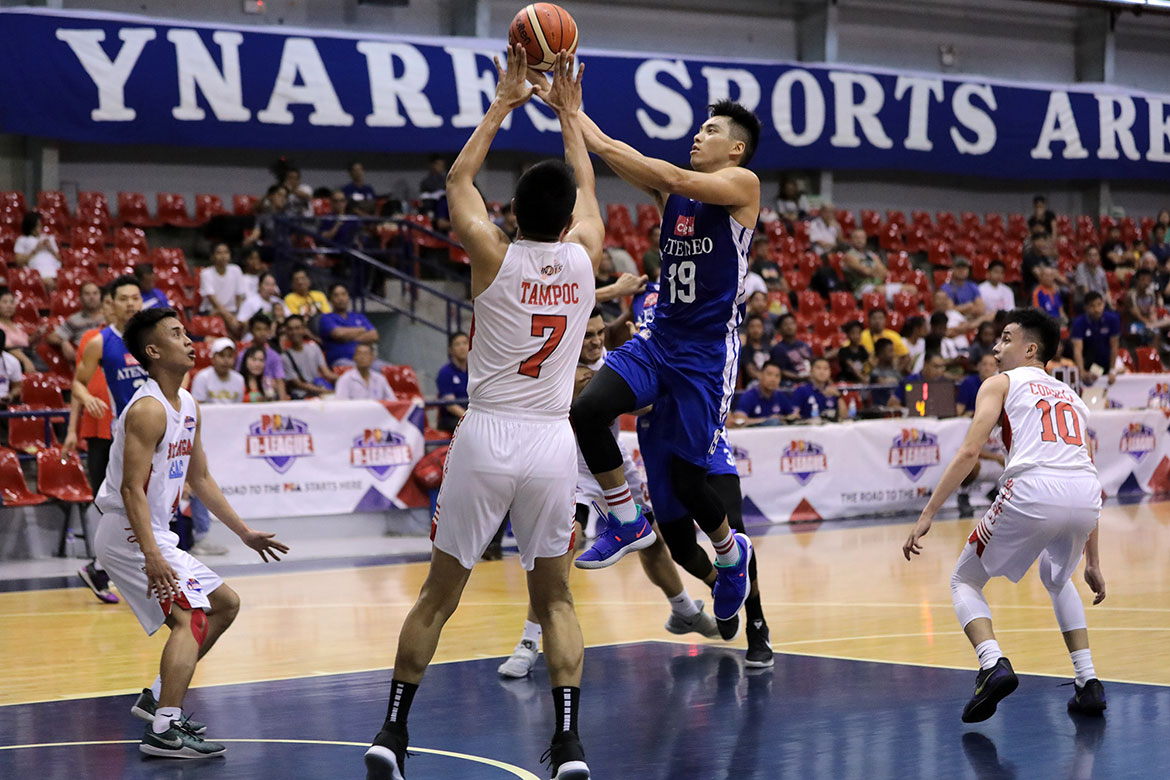 Tiebreaker Times Tyler Tio leads 5 Blue Eagles in double-digits as Cignal-Ateneo deals EAC 44-point rout AdU Basketball EAC News PBA D-League  William Navarro Tyler Tio Tab Baldwin Oliver Bunyi Mike Nieto Matt Nieto JP Maguliano Isaac Go Batangas-EAC Generals Ateneo-Cignal Blue Eagles 2019 PBA D-League Season