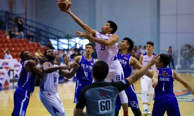 Tiebreaker Times Clint Doliguez knocks down 5 treys as San Beda torches Diliman Basketball News PBA D-League SBC  Rensy Bajar MetroPac-San Beda Movers Kevin Gandjeto Jeramer Cabanag James Canlas Evan Nelle Diliman College-Gerry's Grill Blue Dragons Clint Doliguez Boyet Fernandez 2019 PBA D-League Season