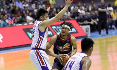 Tiebreaker Times Rare show of emotion from Gabe Norwood leads to even rarer tech Basketball News PBA  Rain or Shine Elasto Painters PBA Season 44 Gabe Norwood 2019 PBA Philippine Cup