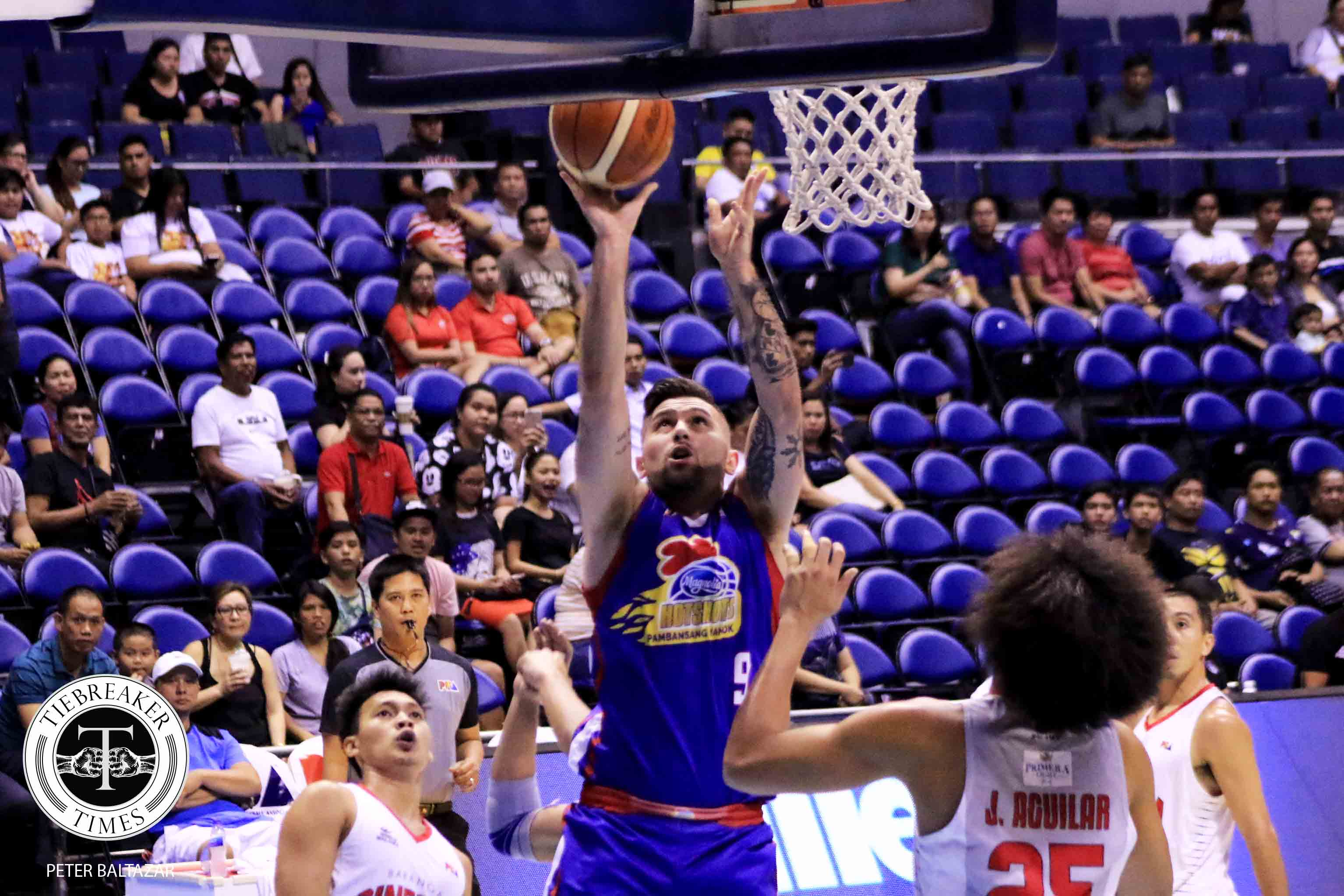 Tiebreaker Times Robbie Herndon makes sure that Magnolia's conference doesn't end Basketball News PBA  Robbie Herndon PBA Season 44 Magnolia Hotshots 2019 PBA Philippine Cup