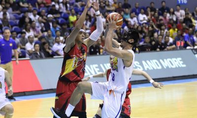 Tiebreaker Times Troy Rosario nails big triple, sends TNT-San Miguel series to win-or-go-home Basketball News PBA  Troy Rosario TNT Katropa Terrence Romeo San Miguel Beermen Roger Pogoy PBA Season 44 June Mar Fajardo Jayson Castro Christian Standhardinger Bong Ravena Alex Cabagnot 2019 PBA Philippine Cup