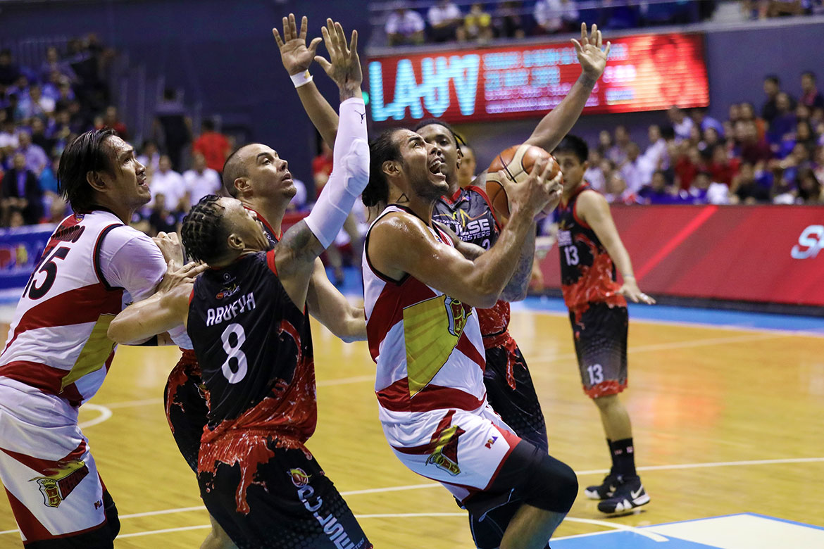 Tiebreaker Times Christian Standhardinger has no qualms about F2 call: 'That's just how it is' Basketball News PBA  San Miguel Beermen PBA Season 44 Christian Standhardinger 2019 PBA Philippine Cup