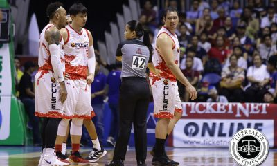Tiebreaker Times Phoenix claims Standhardinger told Dave Marcelo to 'hit him harder' Basketball News PBA  San Miguel Beermen Phoenix Fuel Masters PBA Season 44 Louie Alas Dave Marcelo Christian Standhardinger 2019 PBA Philippine Cup
