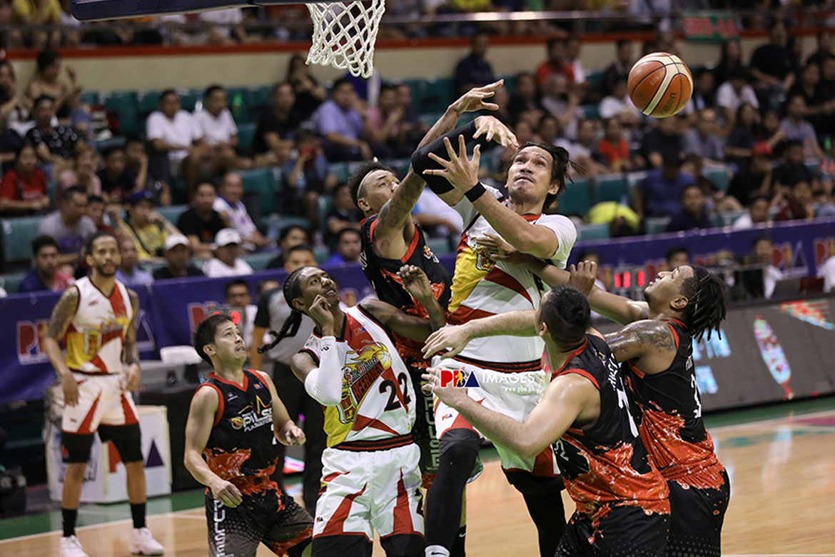 Tiebreaker Times June Mar Fajardo has nothing but respect for Calvin Abueva Basketball News PBA  San Miguel Beermen PBA Season 44 June Mar Fajardo 2019 PBA Philippine Cup