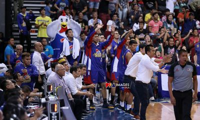 Tiebreaker Times PBA suspends referee, table official over De La Rosa triple in Game 7 Basketball News PBA  Rome dela Rosa PBA Season 44 Magnolia Hotshots 2019 PBA Philippine Cup