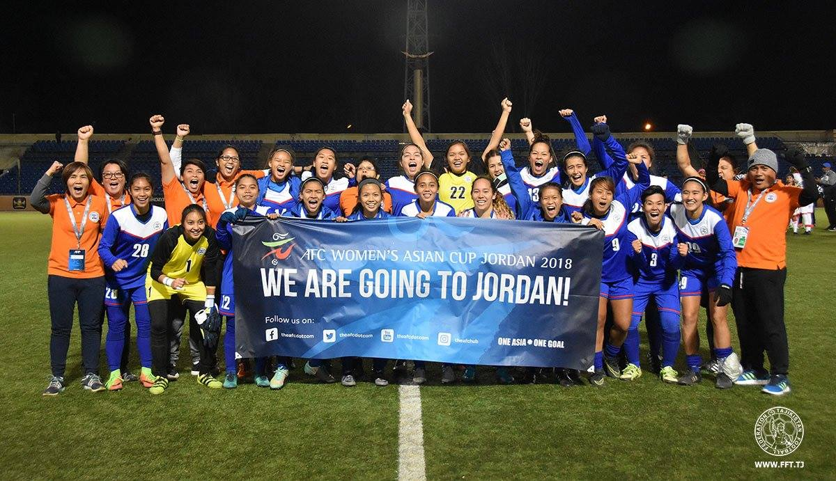 PWFNT-Philippines-qualifies-for-the-AFC-Womens-Asian-Cup-2018-PHOTO-BY-FFT.TJ_ Inna Palacios and the epitome of Filipina resiliency Football News Philippine Malditas  - philippine sports news
