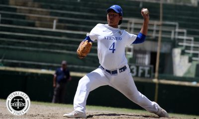 Tiebreaker Times 'Sensational' Miggy Angeles' first no-relief game gives Ateneo one more crack ADMU Baseball News UAAP  UAAP SEASON 81 Baseball UAAP Season 81 Miggy Angeles Bocc Bernardo Ateneo Baseball