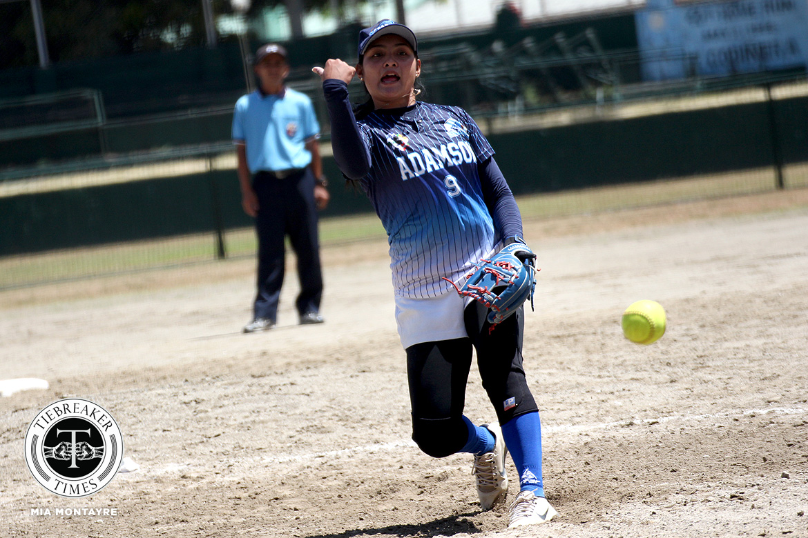 Tiebreaker Times Lyca Basa hopes to pass on legacy to next batch of Adamson pitchers AdU News Softball UAAP  UAAP Season 81 Softball UAAP Season 81 Lyca Basa Ezra Jalandoni Ana Santiago Adamson Softball