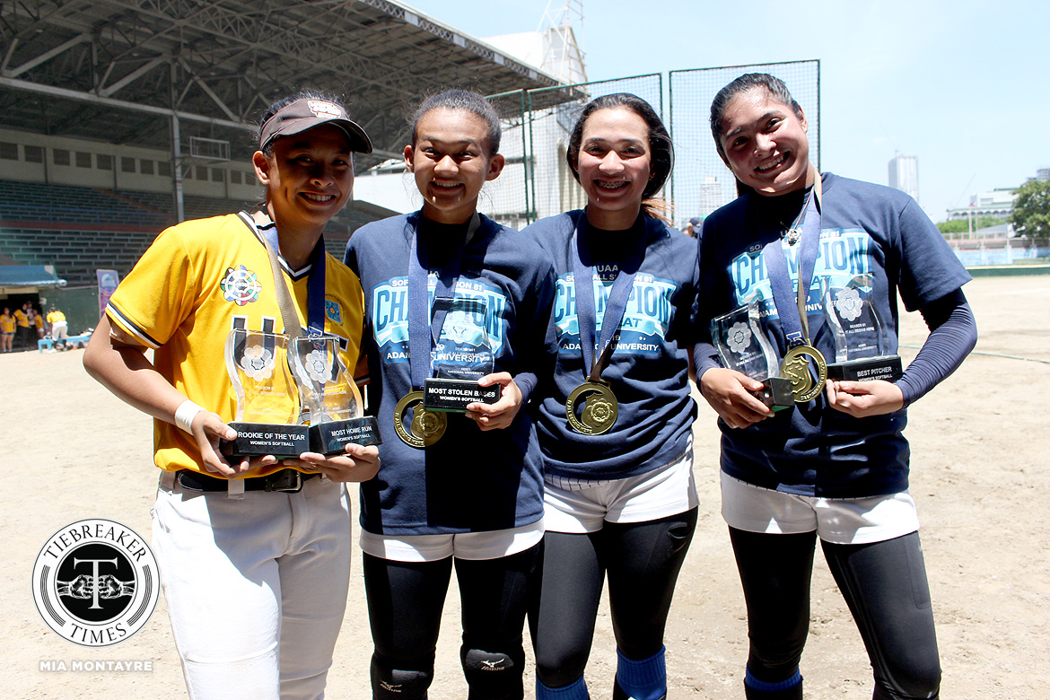 Tiebreaker Times Arianne Vallestero can now move on to the next stage of her career AdU News Softball UAAP  UAAP Season 81 Softball UAAP Season 81 Arianne Vallestero Adamson Softball