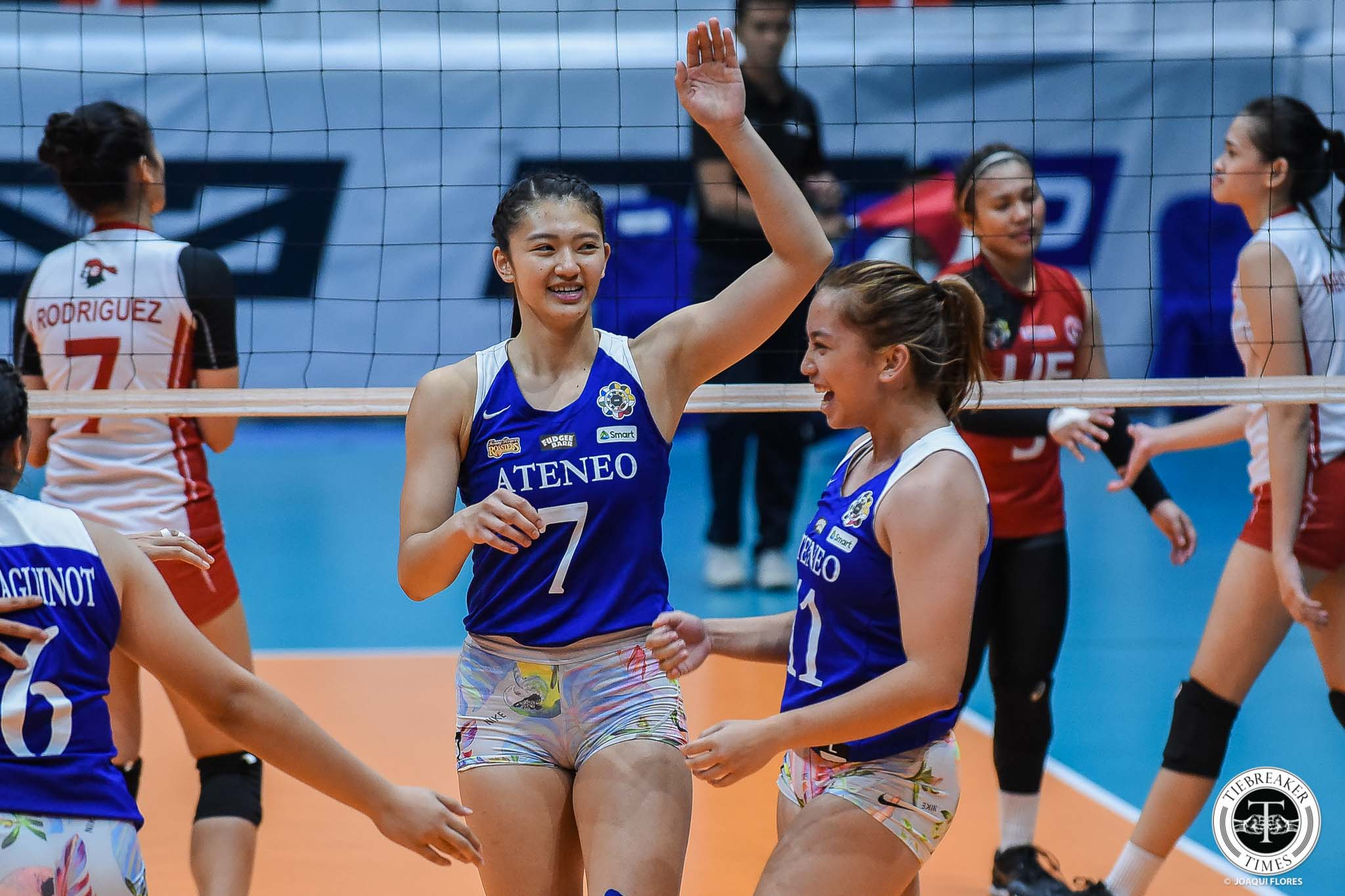 Tiebreaker Times Ateneo Lady Eagles clinch top seed, send UE, Kath Arado packing ADMU News UAAP UE Volleyball  UE Women's Volleyball UAAP Season 81 Women's Volleyball UAAP Season 81 Rey Karl Dimaculangan Oliver Almadro Mary Anne Mendrez Maddie Madayag Kim Gequillana Kath Arado Kat Tolentino Judith Abil Deanna Wong Ateneo Women's Volleyball