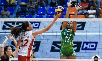 Tiebreaker Times La Salle Lady Spikers power past UE, near twice-to-beat advantage DLSU News UAAP UE Volleyball  UE Women's Volleyball UAAP Season 81 Women's Volleyball UAAP Season 81 Ramil De Jesus Michelle Cobb Judith Abil Jolina Dela Cruz DLSU Women's Volleyball CJ Saga Aduke Ogunsanya