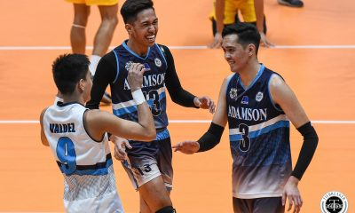 Tiebreaker Times Adamson Soaring Falcons shock FEU in thrilling five-setter AdU FEU News UAAP Volleyball  UAAP Season 81 Men's Volleyball UAAP Season 81 Richard Solis Rey Diaz Pao Pablico Leo Miranda JP Bugaoan Jesus Valdez George Labang FEU Men's Volleyball Carlo Jimenez Adamson Men's Volleyball