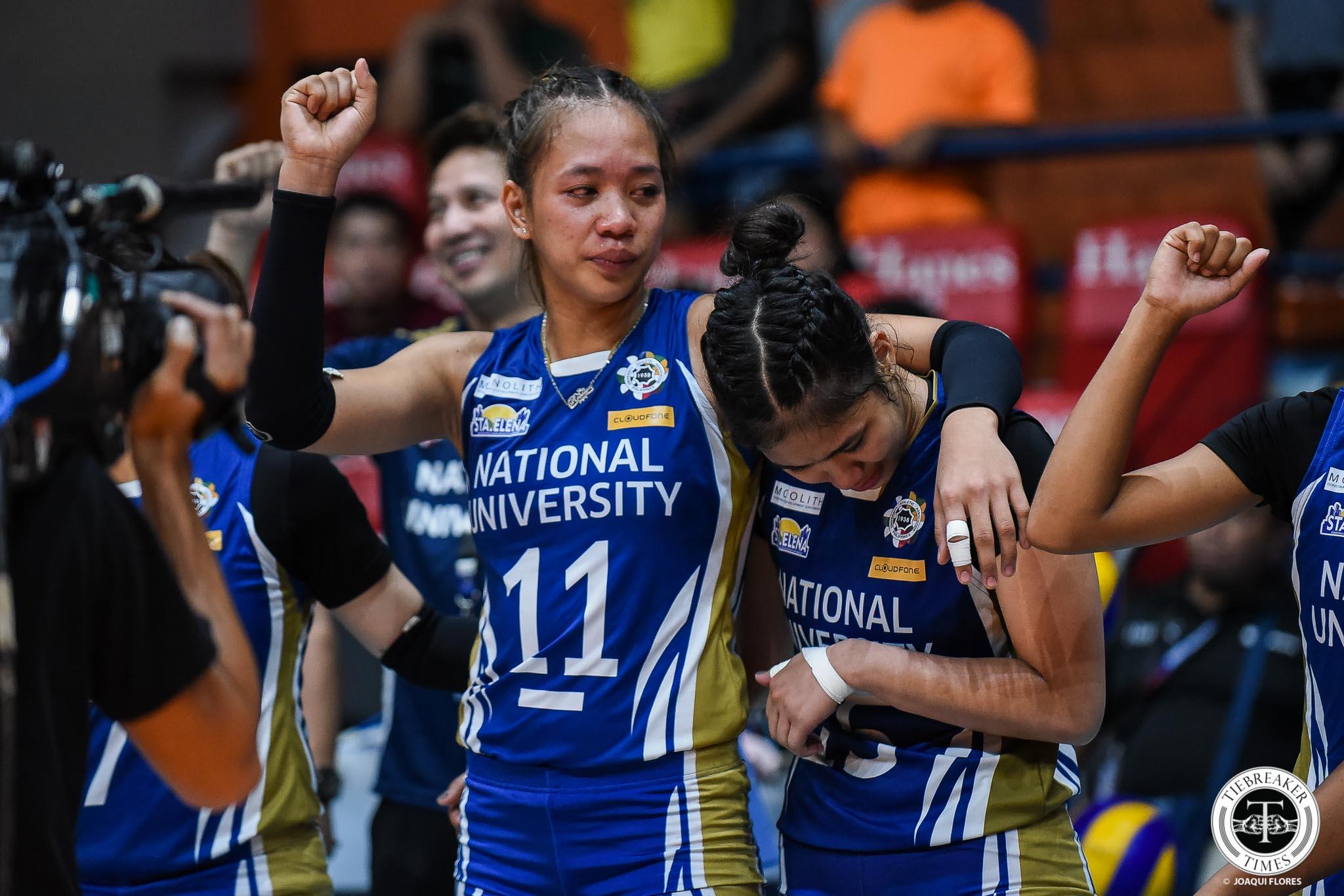 Tiebreaker Times Being Best or Second Best Blocker doesn't matter for Rose Doria News NU UAAP Volleyball  UAAP Season 81 Women's Volleyball UAAP Season 81 Rose Doria NU Women's Volleyball