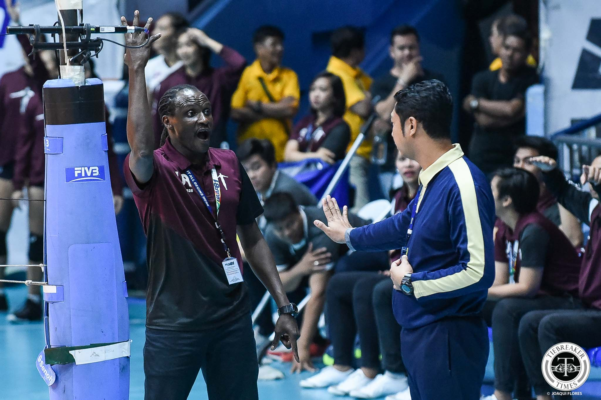 Tiebreaker Times Estranero, UP Lady Maroons keeping frustrations at bay as Final Four chance slips News UAAP UP Volleyball  UP Women's Volleyball UAAP Season 81 Women's Volleyball UAAP Season 81 Godfrey Okumu Ayel Estranero