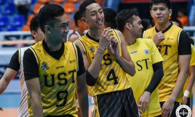 Tiebreaker Times UST Tiger Spikers end three-game slide, outlast UP News UAAP UP UST Volleyball  UST Men's Volleyball UP Men's Volleyball UAAP Season 81 Men's Volleyball UAAP Season 81 Timothy Tajanlangit Rald Ricafort Odjie Mamon Nico Consuelo Lester Sawal Joshua Umandal Jerry San Pedro Jaron Requinton