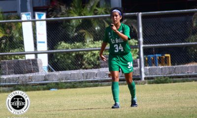 Tiebreaker Times Sara Castañeda salvages La Salle draw over resolute UP DLSU Football News UAAP UP  UP Women's Football UAAP Season 81 Women's Football UAAP Season 81 Tashka Lacson Sara Castaneda Nicole Adlawan Mary Rose Obra Irish Navaja Hans-Peter Smit DLSU Women's Football Anto Gonzales Alyssa Ube