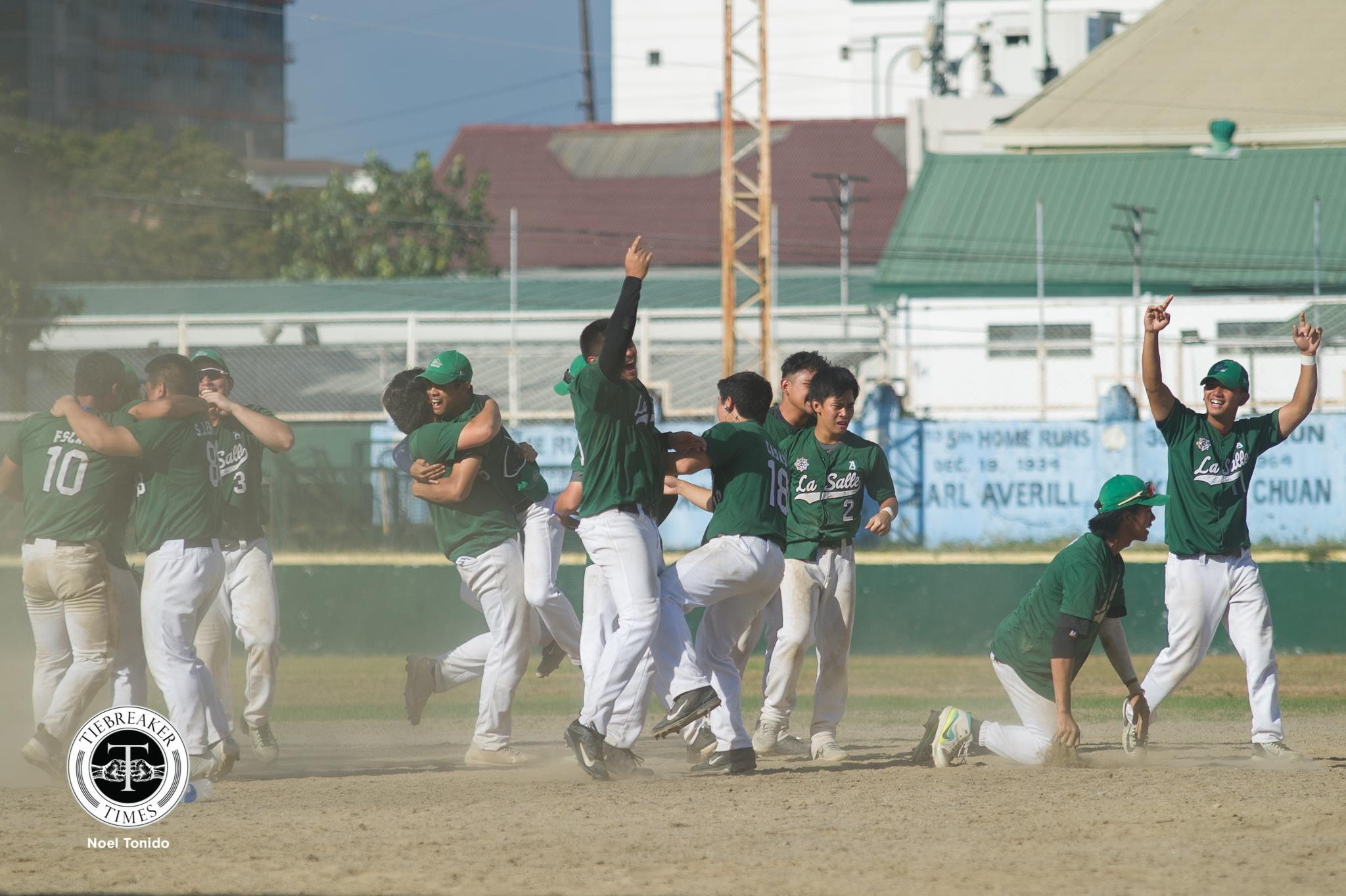 Tiebreaker Times 9th inn Kiko Gesmundo HR pushes La Salle to UAAP Baseball crown ADMU Baseball DLSU News UAAP  UAAP SEASON 81 Baseball UAAP Season 81 Tuwi Park Radito Banzon Paulo Salud Paulo Macasaet Joseph Orillana Joaqui Bilbao DLSU Baseball Dino Altomonte Boo Barandiaran Bocc Bernardo Ateneo Baseball