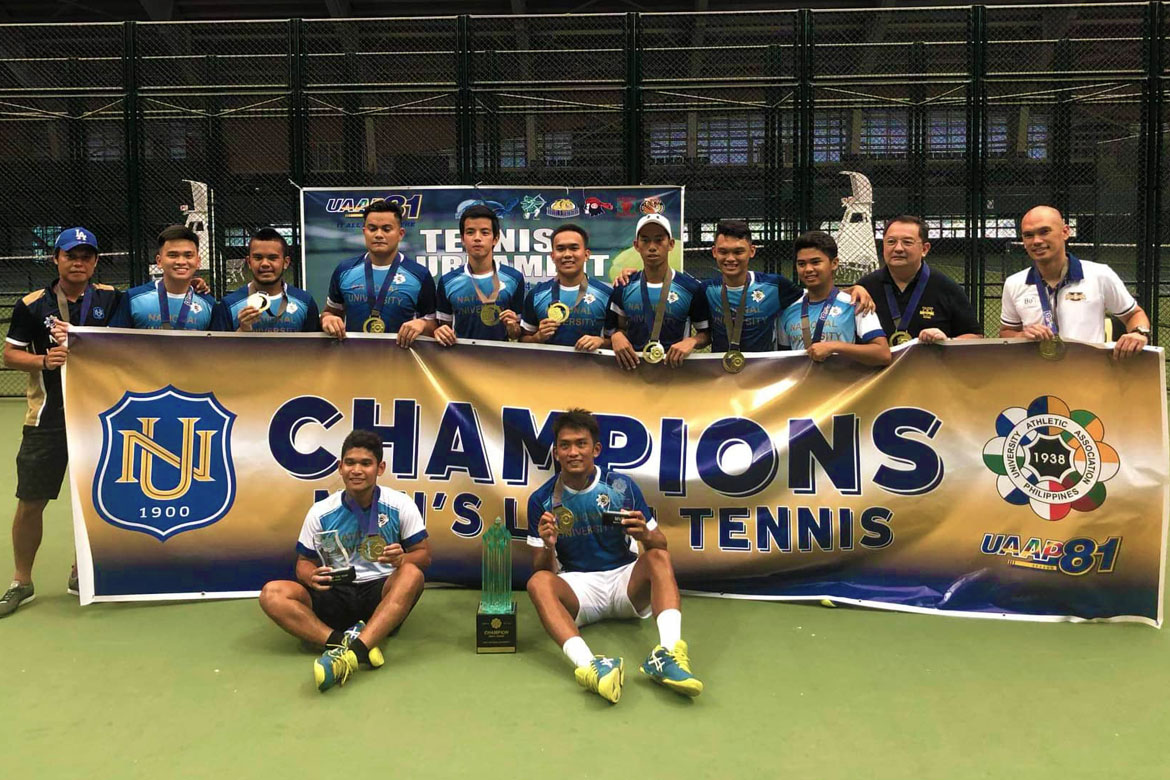 Tiebreaker Times NU Bulldogs return to UAAP Tennis glory after three years ADMU News NU Tennis UAAP  Wilson Oblea UAAP Season 81 Men's Tennis UAAP Season 81 NU Men's Tennis Marcen Gonzales Luke Flores Karl Santamaria Justin Prulla Jeric Accion Erj Gatdula Ateneo Men's Tennis Allen Manlangit
