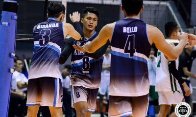 Tiebreaker Times Adamson Soaring Falcons nip La Salle to keep twice-to-beat hopes alive AdU DLSU News UAAP Volleyball  UAAP Season 81 Men's Volleyball UAAP Season 81 Pao Pablico Leo Miranda Jesus Valdez DLSU Men's Volleyball Cris Dumago Carlo Jimenez Billie Anima Arnold Laniog Adamson Men's Volleyball