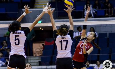 Tiebreaker Times Judith Abil, UE Lady Warriors smash Adamson, bag third win AdU News UAAP UE Volleyball  UE Women's Volleybal UAAP Season 81 Women's Volleyball UAAP Season 81 Roselle Baliton Onyok Getigan Mary Ann Mendrez Lai Bendong Kath Arado Karl Dimaculangan Bernadette Flora Adamson Women's Volleyball