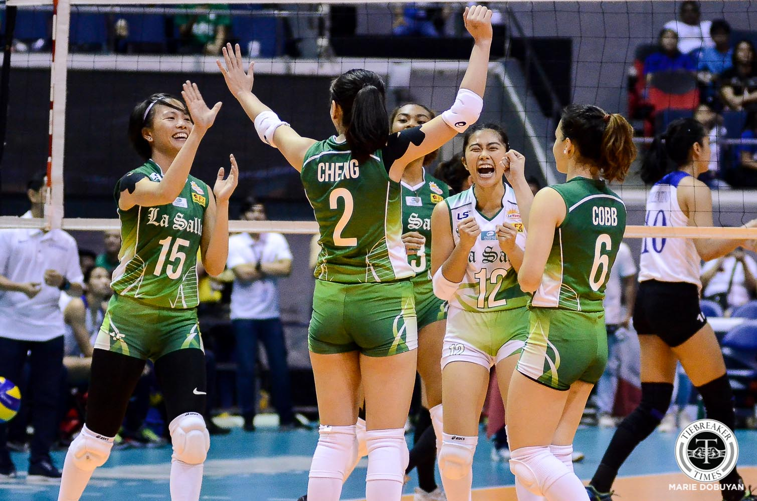 Tiebreaker Times Steady Carmel Saga keys La Salle's big win over Ateneo DLSU News UAAP Volleyball  UAAP Season 81 Women's Volleyball UAAP Season 81 DLSU Women's Volleyball Carmel Saga