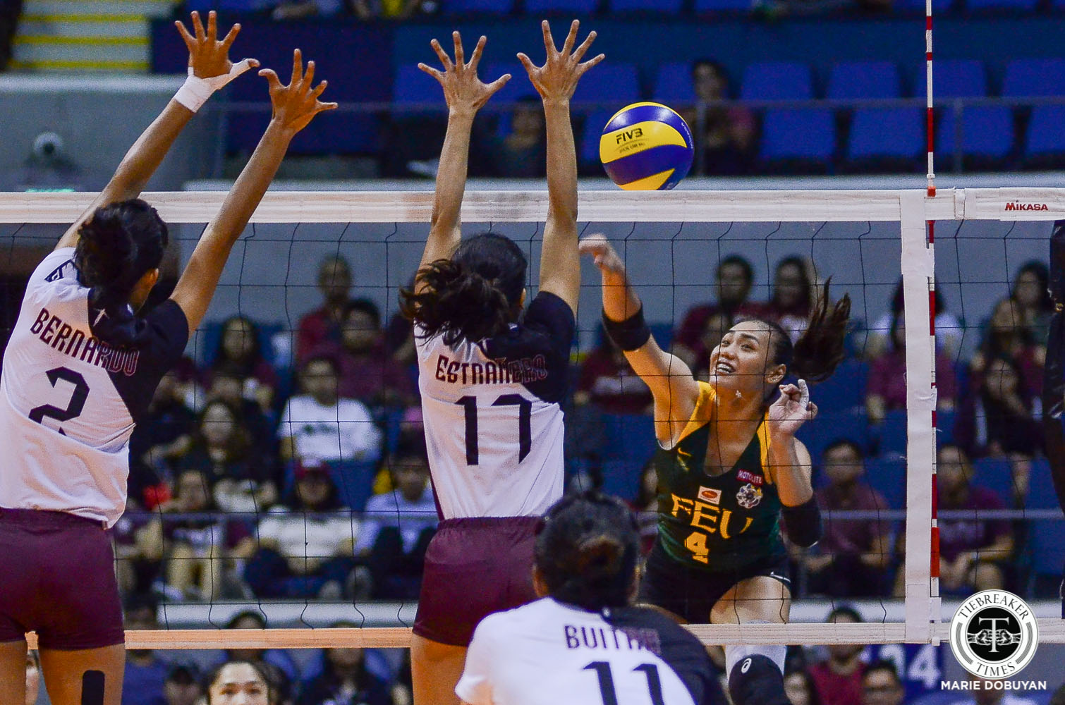 Tiebreaker Times FEU Lady Tamaraws earn convincing win over UP for share of 3rd FEU News UAAP UP Volleyball  UP Women's Volleyball UAAP Season 81 Women's Volleyball UAAP Season 81 Tots Carlos Kyle Negrito Justine Dorog Jerrili Malabanan Heather Guino-o Godfrey Okumu George Pascua FEU Women's Volleyball Buding Duremdes