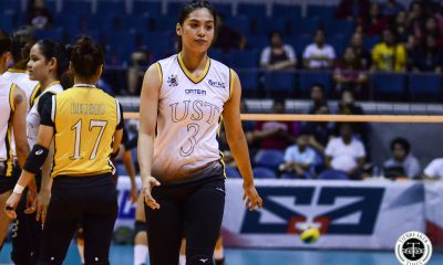 Tiebreaker Times Rookie Ysa Jimenez explosion proves UST's a '13-strong' team News UAAP UST Volleyball  Ysa Jimenez UST Women's Volleyball UAAP Season 81 Women's Volleyball UAAP Season 81 Kungfu Reyes