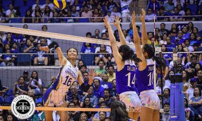 Tiebreaker Times Ateneo's Katipunan Skyline prides itself on league-best blocking ADMU News UAAP Volleyball  UAAP Season 81 Women's Volleyball UAAP Season 81 Maddie Madayag Kat Tolentino Bea De Leon Ateneo Women's Volleyball