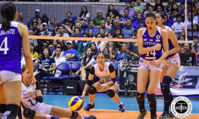 Tiebreaker Times Ateneo Lady Eagles inch closer to twice-to-beat after dispatching NU ADMU News NU UAAP Volleyball  UAAP Season 81 Women's Volleyball UAAP Season 81 Princess Robles Oliver Almadro NU Women's Volleyball Norman Miguel Kim Gequillana Kat Tolentino Jules Samonte Ivy Lacsina Deanna Wong Ateneo Women's Volleyball