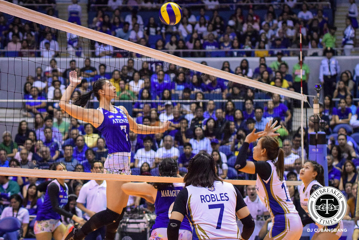 Tiebreaker Times Complacency not a part of Ateneo's character, says Maddie Madayag ADMU News UAAP Volleyball  UAAP Season 81 Women's Volleyball UAAP Season 81 Oliver Almadro Maddie Madayag Ateneo Women's Volleyball