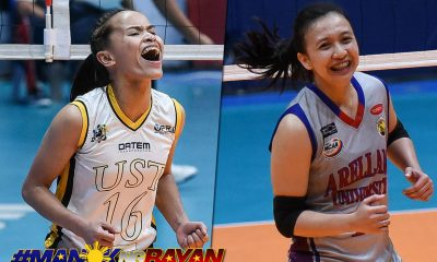 Tiebreaker Times Rondina, Arocha to be first-ever Collegiate PC/SportsVision Volleyball Player of the Year AU NCAA News UAAP UST Volleyball  Regine Arocha Cherry Rondina 2019 Collegiate Sports Awards 2019 Chooks-to-Go Pilipinas 3x3 Season