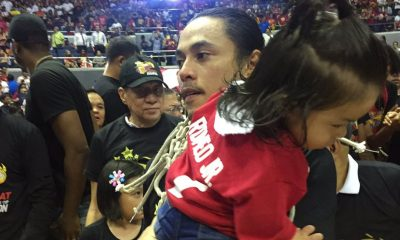 Tiebreaker Times Terrence Romeo shows son the life he chose Basketball News PBA  Terrence Romeo San Miguel Beermen PBA Season 44 2019 PBA Philippine Cup
