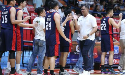 Tiebreaker Times Larry Muyang says Jeff Napa will always be part of Letran Basketball CSJL News  Letran Seniors Basketball Larry Muyang Jeff Napa 2019 Filoil Flying V Preseason Cup