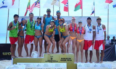 Tiebreaker Times Japan's Ishitsubo-Shiba, Thailand's Kangkon-Nakprakhong take down Boracay Open Beach Volleyball BVR News  Satono Ishitsubo Narongdet Kangkon Banlue Nakprakhong Asami Shiba 2019 FIVB Beach Volleyball World Tour 1-star 2019 BVR Season