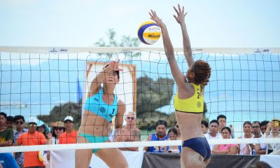 Tiebreaker Times Bea Tan-Dij Rodriguez vent ire on Malaysian pair to advance to Round of 12 Beach Volleyball BVR News  Dij Rodriguez Bea Tan 2019 FIVB Beach Volleyball World Tour 1-star 2019 BVR Season