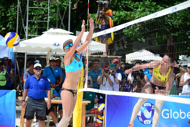 Tiebreaker Times Cherry Rondina-Bernadeth Pons fall to Japan to finish in 5th place Beach Volleyball BVR News  Cherry Rondina Bernadeth Pons 2019 FIVB Beach Volleyball World Tour 1-star 2019 BVR Season