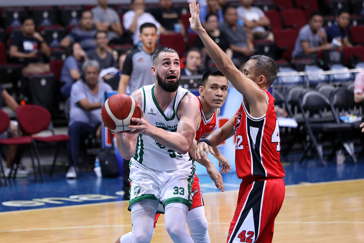 Tiebreaker Times Kyle Barone looking to adjust to PBA's longer per-quarter minutes Basketball News PBA  PBA Season 44 Kyle Barone Columbian Dyip 2019 PBA Commissioners Cup