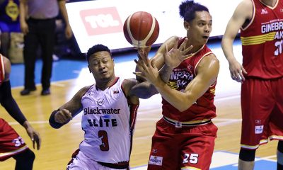 Tiebreaker Times Ray Parks introduces self to Ginebra as Blackwater guts out another OT win Basketball News PBA  Tim Cone PBA Season 44 Mac Belo Justin Brownlee Greg Slaughter Bobby Ray Parks Jr. Blackwater Elite Barangay Ginebra San Miguel Aris Dimaunahan Alex Stepheson 2019 PBA Commissioners Cup