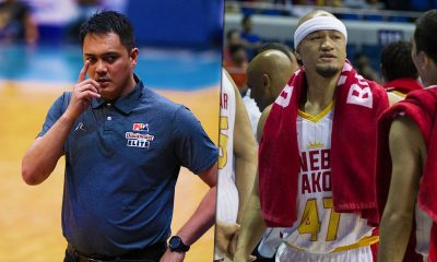 Tiebreaker Times Ex-Gin King Aris Dimaunahan looks forward to facing Ginebra, now as coach Basketball News PBA  PBA Season 44 Blackwater Elite Barangay Ginebra San Miguel Aris Dimaunahan 2019 PBA Commissioners Cup